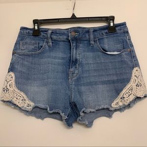 Mossimo Supply Co. Shorts - BOGO ✨ Jean shorts with white lace sides size 12